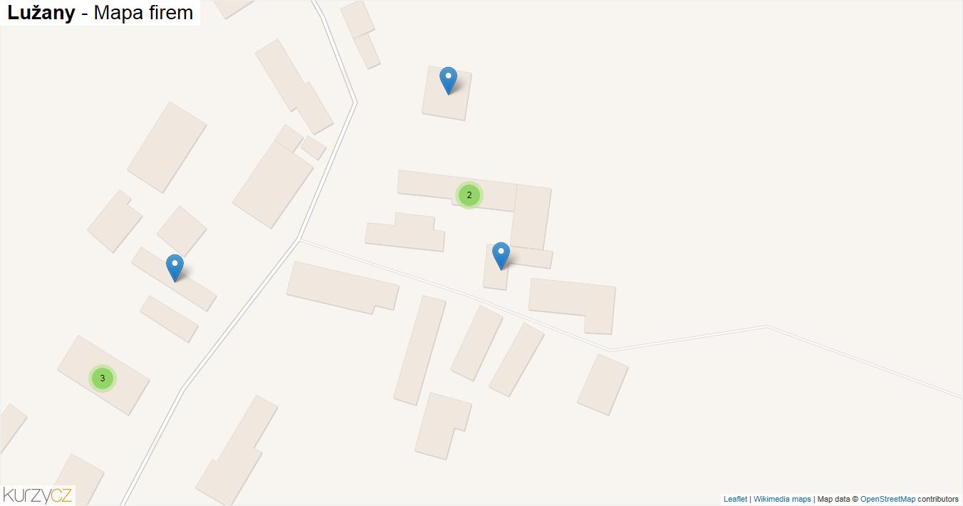 Lužany - mapa firem