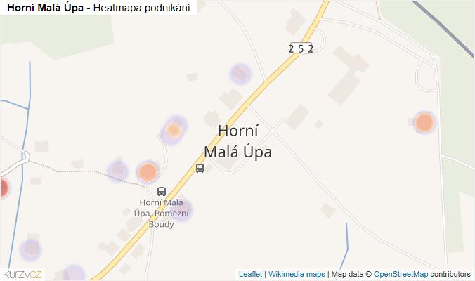 Mapa Horní Malá Úpa - Firmy v části obce.