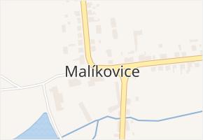 Malíkovice v obci Malíkovice - mapa části obce