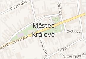 Městec Králové v obci Městec Králové - mapa části obce