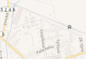 Vrchlického v obci Městec Králové - mapa ulice