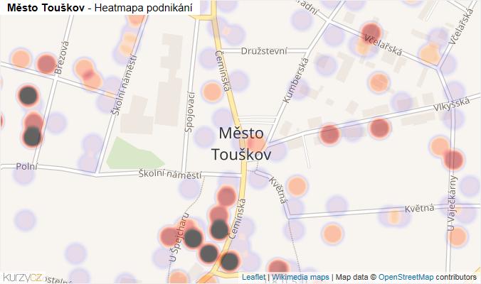 Mapa Město Touškov - Firmy v části obce.