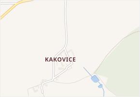 Kakovice v obci Mirovice - mapa části obce