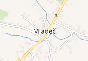 Mladeč v obci Mladeč - mapa části obce