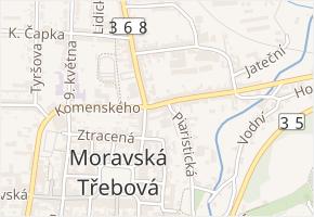 Olomoucká v obci Moravská Třebová - mapa ulice