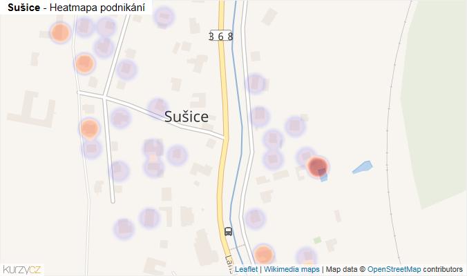 Mapa Sušice - Firmy v části obce.