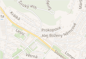 Prokopova v obci Most - mapa ulice