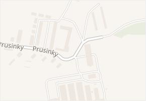 Prusinky v obci Napajedla - mapa ulice