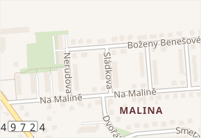 Sládkova v obci Napajedla - mapa ulice