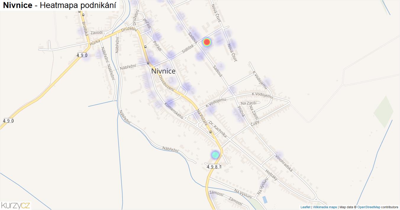 Nivnice - mapa podnikání