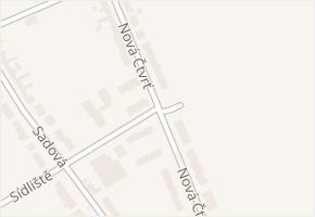 Nová čtvrť v obci Nivnice - mapa ulice