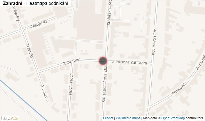 Mapa Zahradní - Firmy v ulici.