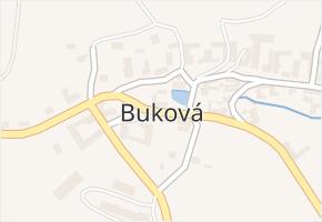 Buková v obci Nížkov - mapa části obce
