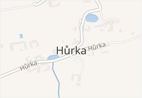 Hůrka v obci Nová Ves - mapa části obce