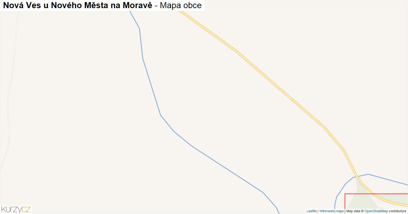 Nová Ves u Nového Města na Moravě - mapa obce