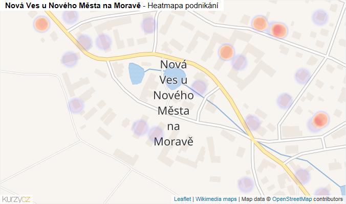 Mapa Nová Ves u Nového Města na Moravě - Firmy v části obce.