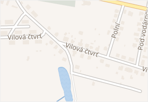 Vilová čtvrť v obci Nové Hrady - mapa ulice