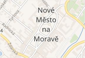 Nové Město na Moravě v obci Nové Město na Moravě - mapa části obce