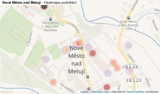 Mapa Nové Město nad Metují - Firmy v části obce.