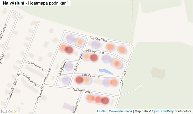 Mapa Na výsluní - Firmy v ulici.