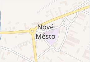Nové Město v obci Nové Město - mapa části obce