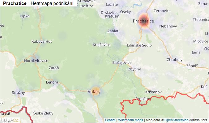 Mapa Prachatice - Firmy v okrese.