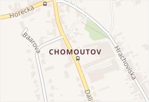 Chomoutov v obci Olomouc - mapa části obce
