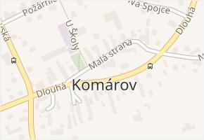 Komárov v obci Opava - mapa části obce