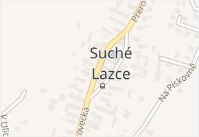 Suché Lazce v obci Opava - mapa části obce