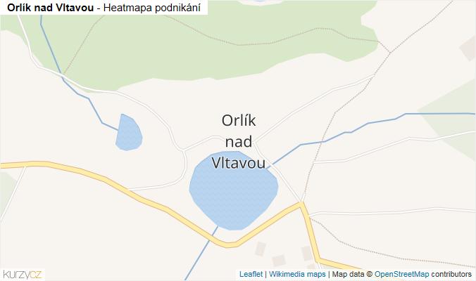 Mapa Orlík nad Vltavou - Firmy v části obce.