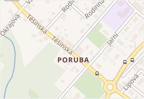 Poruba v obci Orlová - mapa části obce