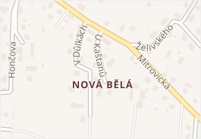 Nová Bělá v obci Ostrava - mapa části obce