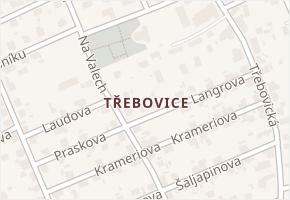 Třebovice v obci Ostrava - mapa části obce