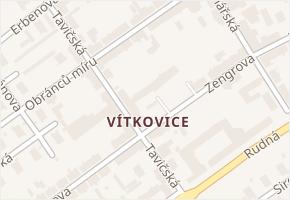 Vítkovice v obci Ostrava - mapa části obce