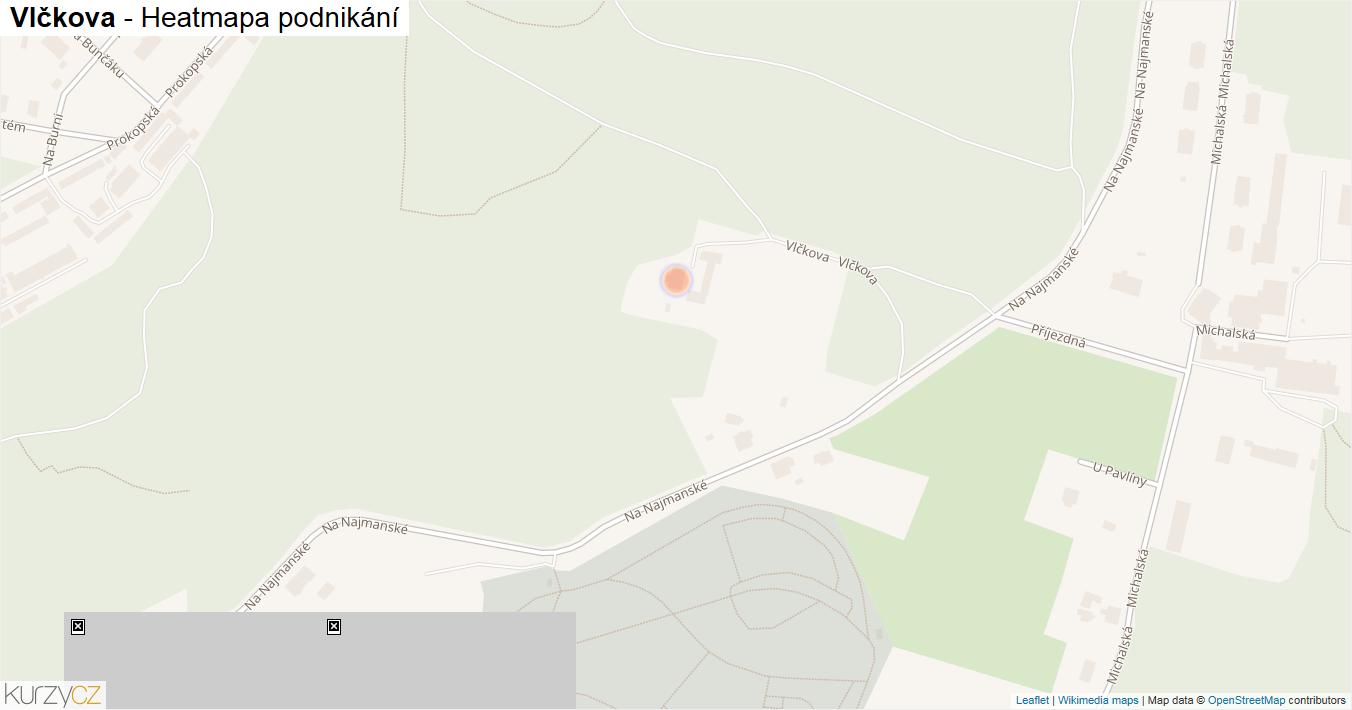 Vlčkova - mapa podnikání