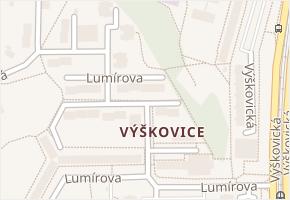 Výškovice v obci Ostrava - mapa části obce