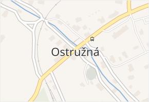 Ostružná v obci Ostružná - mapa části obce
