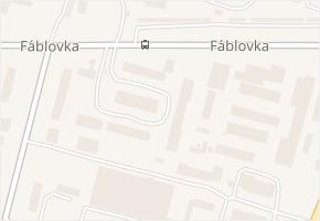 Fáblovka v obci Pardubice - mapa ulice
