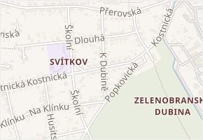 K Dubině v obci Pardubice - mapa ulice