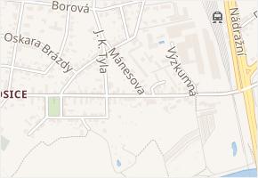 Mánesova v obci Pardubice - mapa ulice