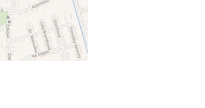 Na Humenském v obci Pardubice - mapa ulice