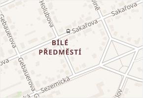 Sakařova v obci Pardubice - mapa ulice