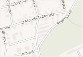 U Moruší v obci Pardubice - mapa ulice