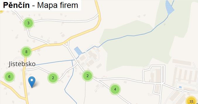 Pěnčín - mapa firem