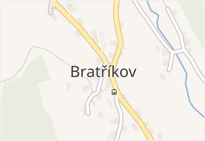 Bratříkov v obci Pěnčín - mapa části obce