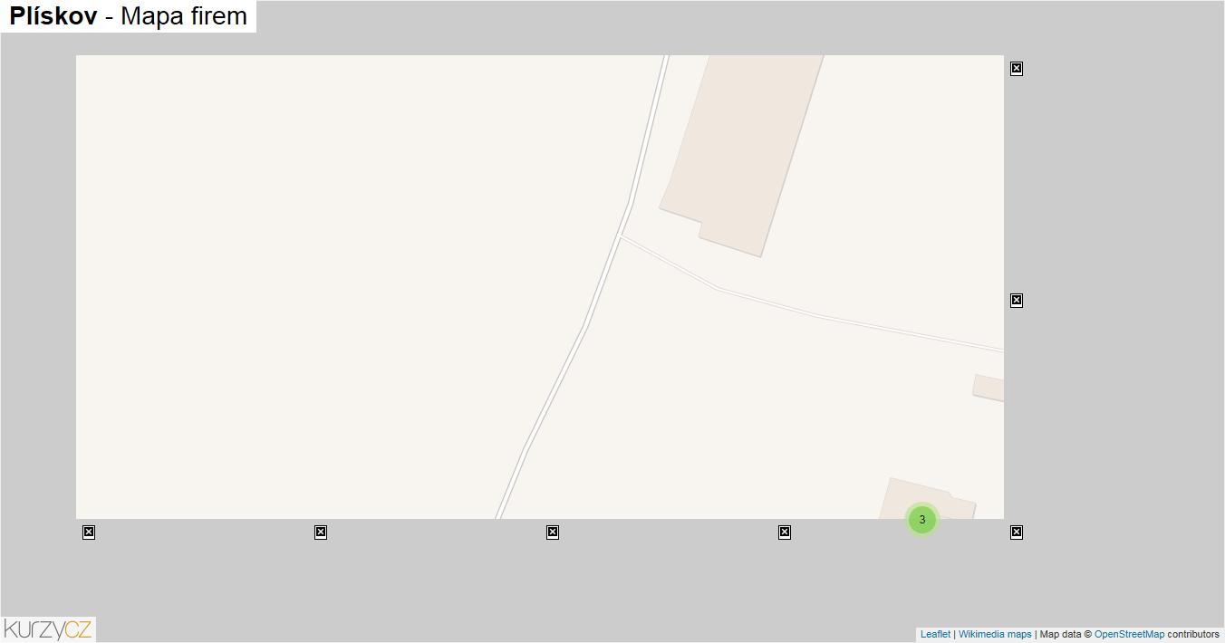Plískov - mapa firem