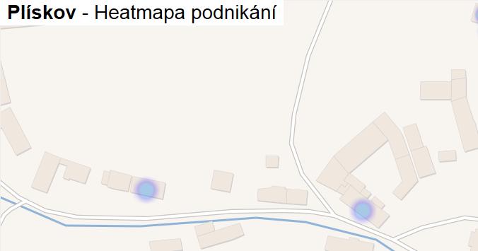 Plískov - mapa podnikání