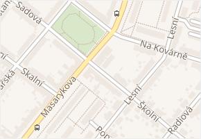 Plzeň 4 v obci Plzeň - mapa městské části