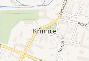 Plzeň 5-Křimice v obci Plzeň - mapa městské části