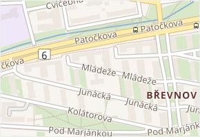 Břevnov v obci Praha - mapa části obce